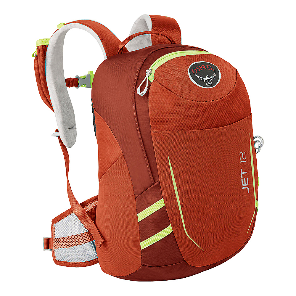 Osprey Jet 12  Kids Strawberry Red - Osprey Day Hiking Backpacks - Outdoor, Day Hiking Backpacks