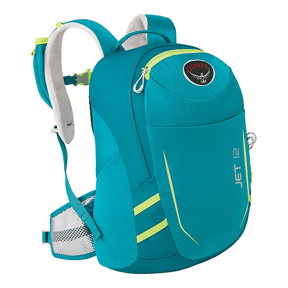 Osprey Jet 12  Kids Real Teal - Osprey Day Hiking Backpacks - Outdoor, Day Hiking Backpacks