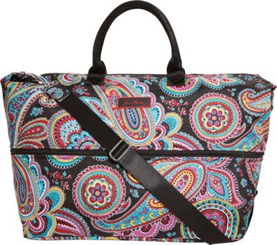 Vera Bradley Lighten Up Expandable Travel Bag Parisian Paisley - Vera Bradley Small Rolling Luggage