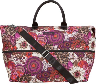 Vera Bradley Lighten Up Expandable Travel Bag Rosewood - Vera Bradley Small Rolling Luggage