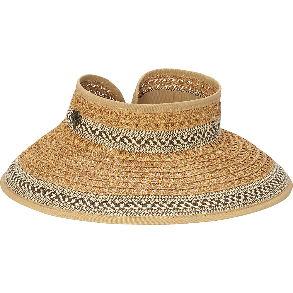 Sun N Sand Paper Braid Visor One Size - Brown - Sun N Sand Hats - Fashion Accessories, Hats