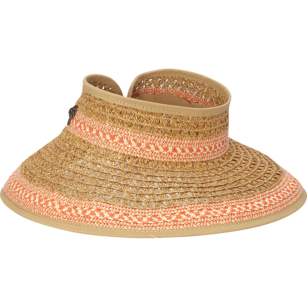 Sun N Sand Paper Braid Visor One Size - Tangerine - Sun N Sand Hats/Gloves/Scarves - Fashion Accessories, Hats/Gloves/Scarves