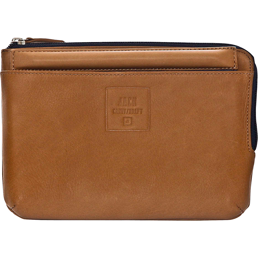 Jill e Designs Jack Beck 7 Leather Tablet Sleeve with Stand Tan Jill e Designs Electronic Cases