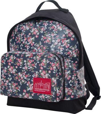 Manhattan Portage Floral Print Big Apple Backpack - Medium Black - Manhattan Portage Everyday Backpacks