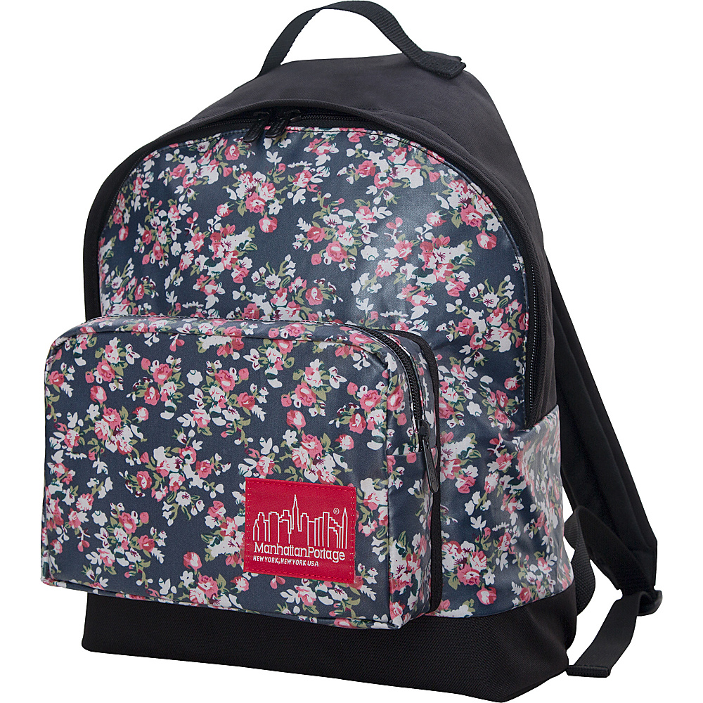 Manhattan Portage Floral Print Big Apple Backpack - Medium Black - Manhattan Portage Everyday Backpacks - Backpacks, Everyday Backpacks