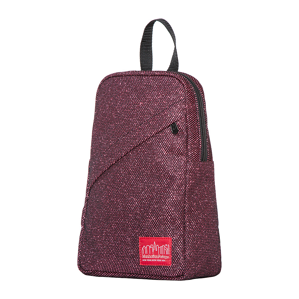 Manhattan Portage Midnight Ellis Backpack with Zipper Burgundy - Manhattan Portage Fabric Handbags - Handbags, Fabric Handbags