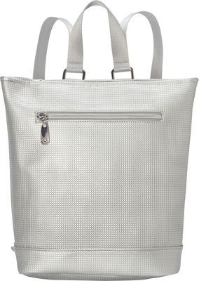 Urban Oxide Passage Backpack Silver - Urban Oxide Manmade Handbags