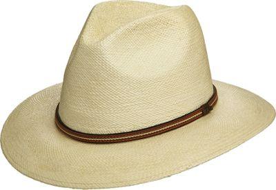 Scala Hats Panama Safari Hat with Leather Band NATURAL-MEDIUM - Scala Hats Hats