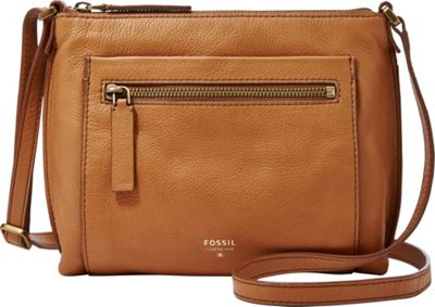 Fossil Vickery Crossbody Camel - Fossil Leather Handbags