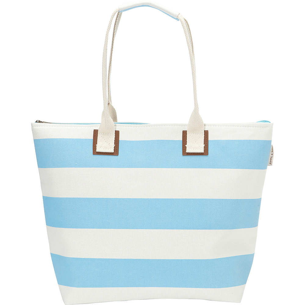 Sun N Sand Hampton Tote Lt. Blue - Sun N Sand Straw Handbags - Handbags, Straw Handbags