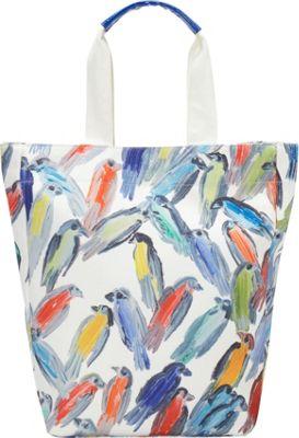 Echo Design Hunt Slonen Finches Tote White/Multi - Echo Design Fabric Handbags