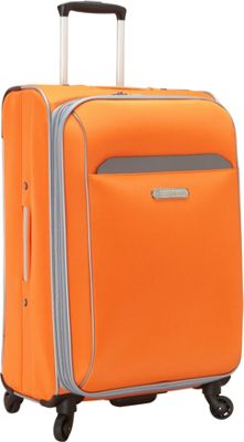 Swiss Cargo TruLite 24 inch Spinner Luggage Orange Silver - Swiss Cargo Softside Checked