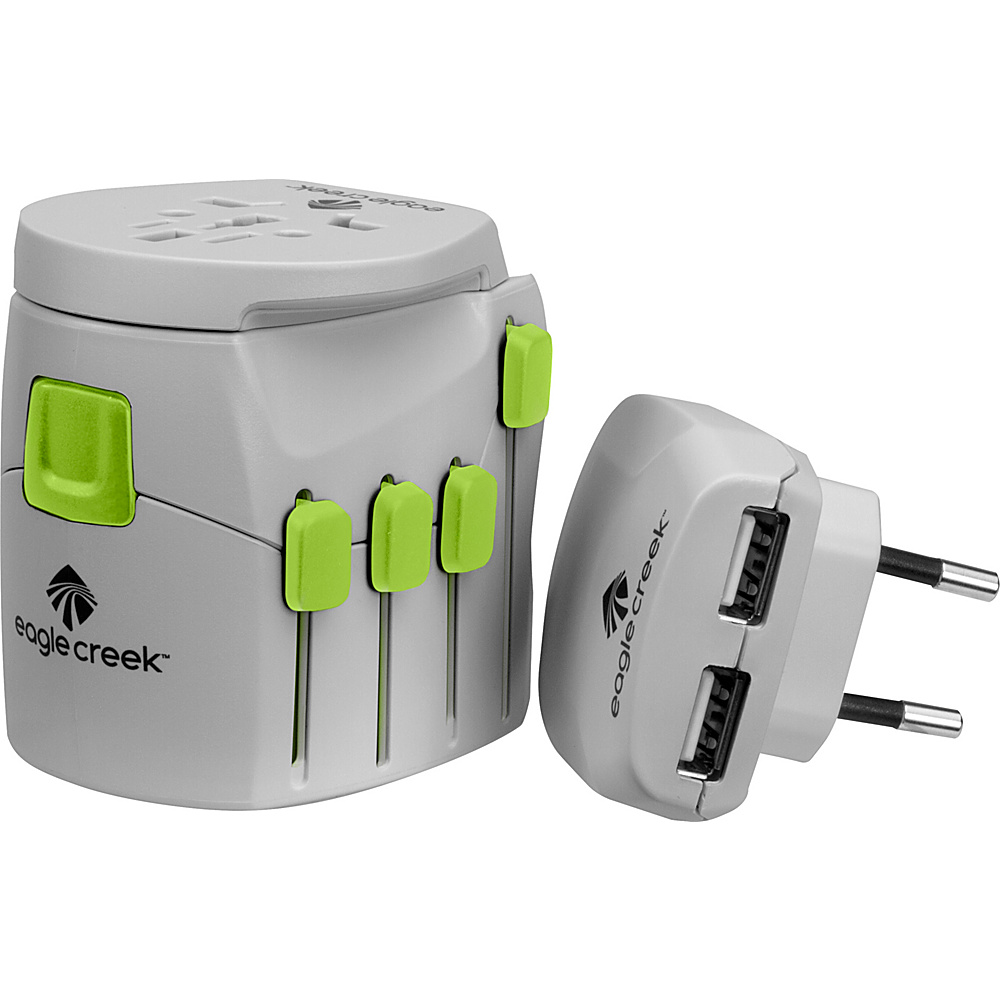 Eagle Creek USB Universal Travel Adapter Pro Quarry Grey - Eagle Creek Electronic Accessories - Technology, Electronic Accessories