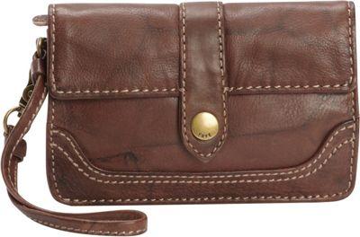 Frye Campus Wristlet Walnut - Frye Designer Handbags