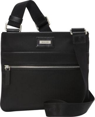 MICHAEL Michael Kors Men's Windsor Small Flat Crossbody Black - MICHAEL Michael Kors Men's Men's Bags