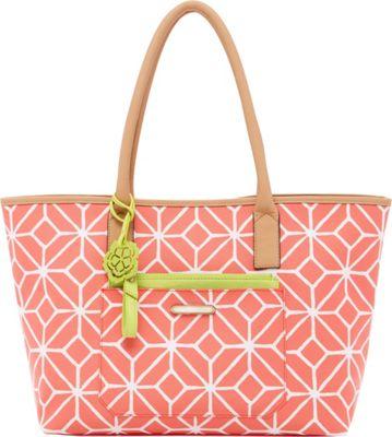 Trina Turk Poolside Shopper Coral Trellis - Trina Turk Designer Handbags
