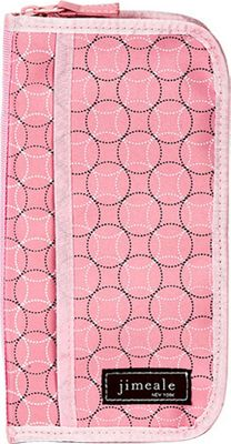 Jimeale Travel Wallet Pink Chocolate Circle - Jimeale Travel Wallets
