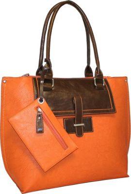 Punto Uno Tailored Tote Burnt Orange - Punto Uno Manmade Handbags