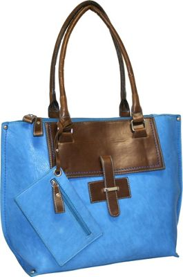 Punto Uno Tailored Tote Denim - Punto Uno Manmade Handbags
