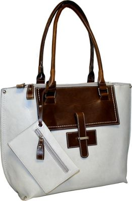 Punto Uno Tailored Tote Stone - Punto Uno Manmade Handbags