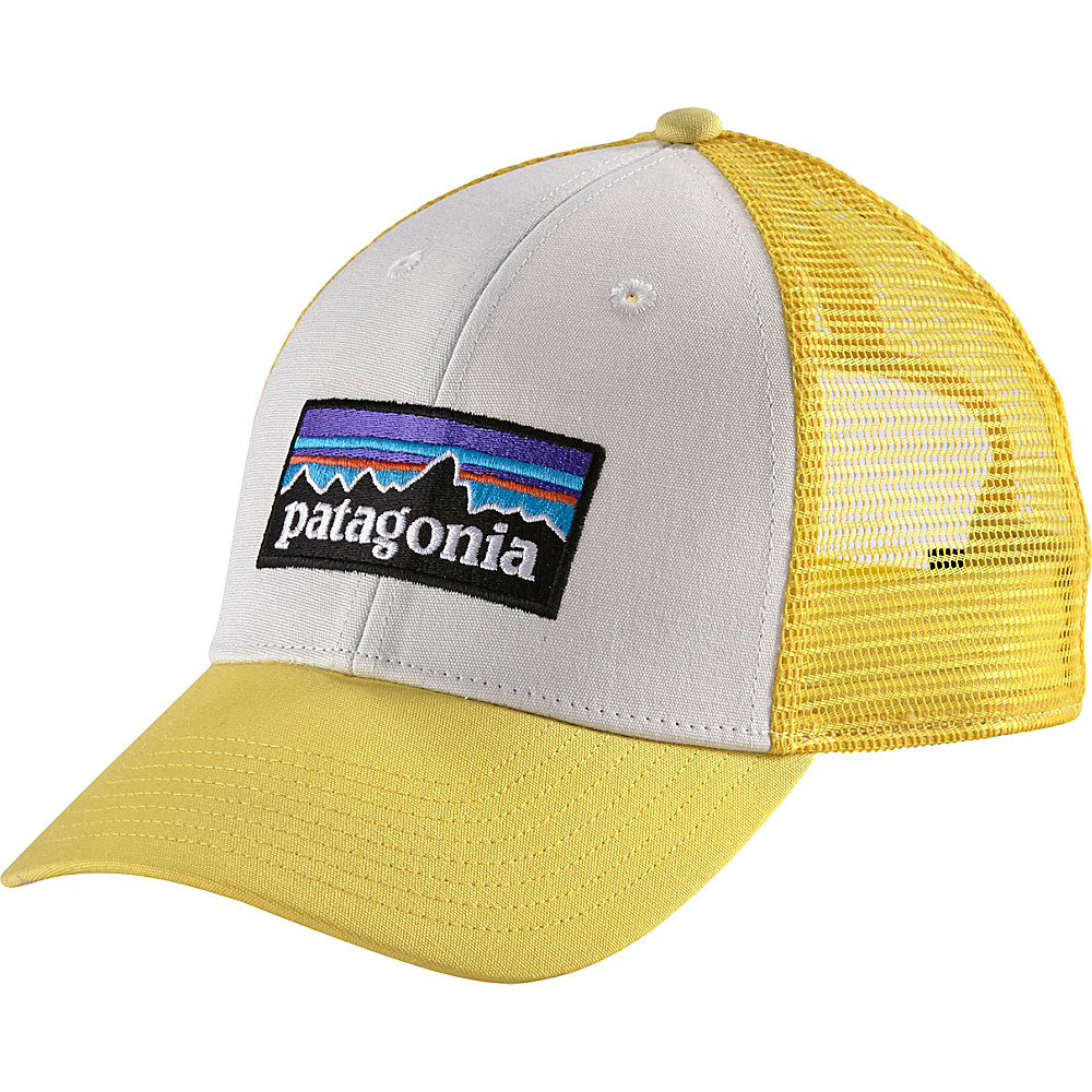 Patagonia P6 LoPro Trucker Hat One Size - White w/Yoke Yellow - Patagonia Hats/Gloves/Scarves - Fashion Accessories, Hats/Gloves/Scarves