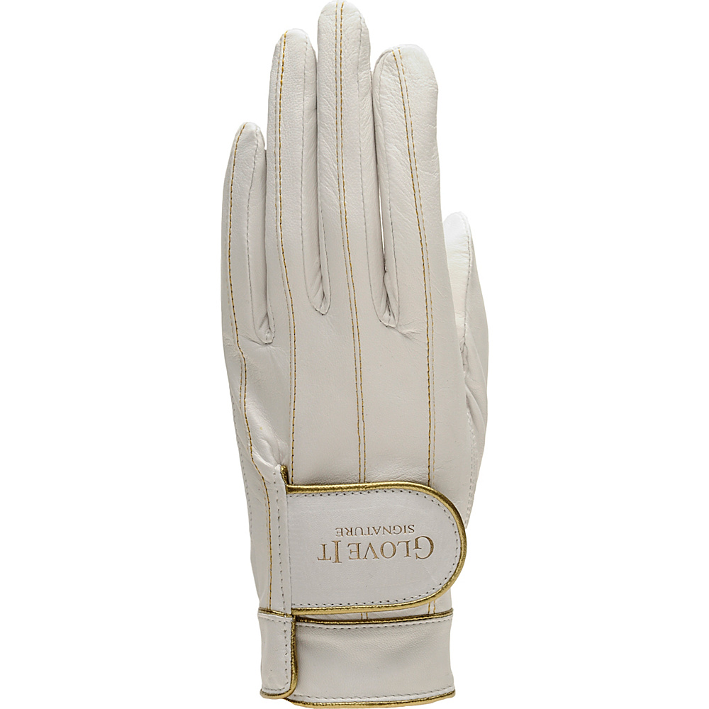 Glove It Women s Signature Park Avenue Golf Glove White Medium Left Hand Glove It Sports Accessories