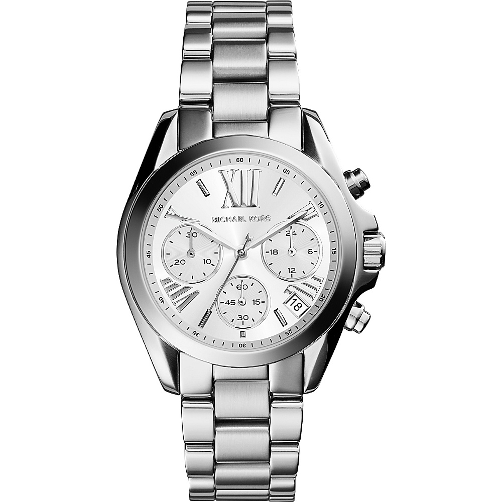 Michael Kors Watches Mini Bradshaw Chronograph Stainless Steel Watch Silver Michael Kors Watches Watches