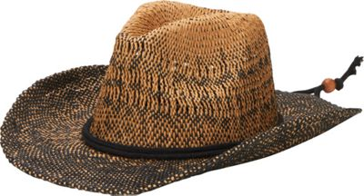 San Diego Hat Ombre Woven Paper Cowboy Hat With Chin Cord