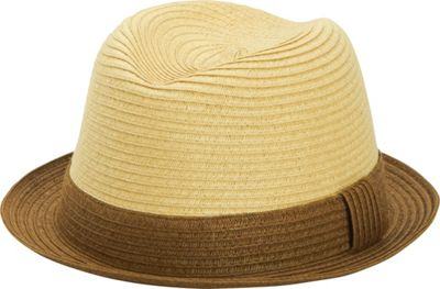 San Diego Hat Paper Fedora with Contrast Colored Brim Brown - San Diego Hat Hats