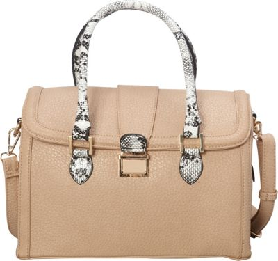 SW Global Devin Satchel Ivory - SW Global Manmade Handbags