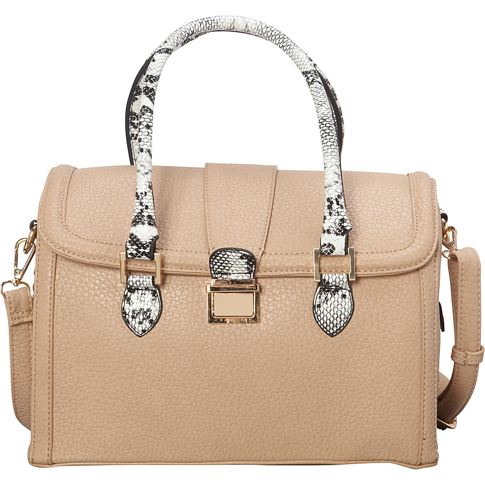 SW Global Devin Satchel Ivory - SW Global Manmade Handbags - Handbags, Manmade Handbags