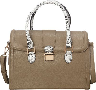 SW Global Devin Satchel Taupe - SW Global Manmade Handbags