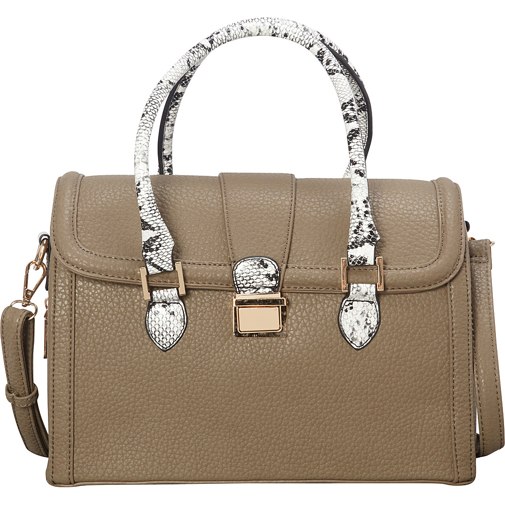 SW Global Devin Satchel Taupe - SW Global Manmade Handbags - Handbags, Manmade Handbags