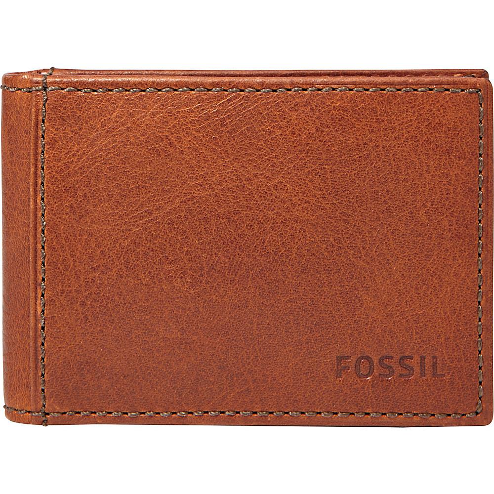 Fossil Conner Slim Money Clip Bifold Cognac - Fossil Mens Wallets - Work Bags & Briefcases, Men's Wallets