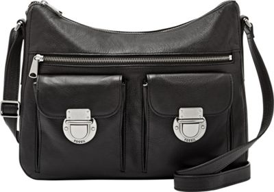 Fossil Riley Hobo Black - Fossil Leather Handbags