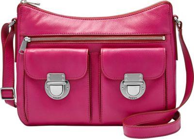 Fossil Riley Hobo Fuchsia - Fossil Leather Handbags
