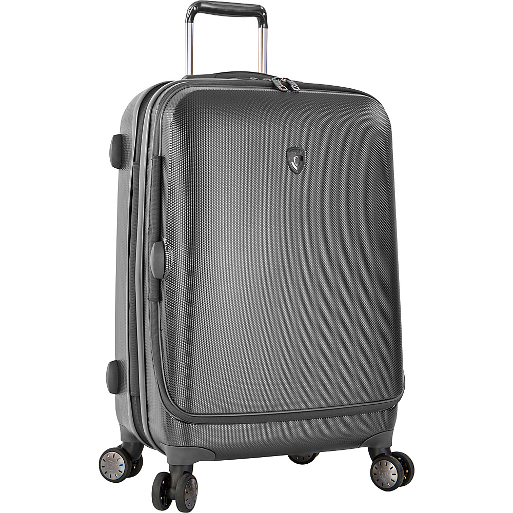 Heys America Portal SmartLuggage 26 Spinner Luggage Pewter Heys America Hardside Checked