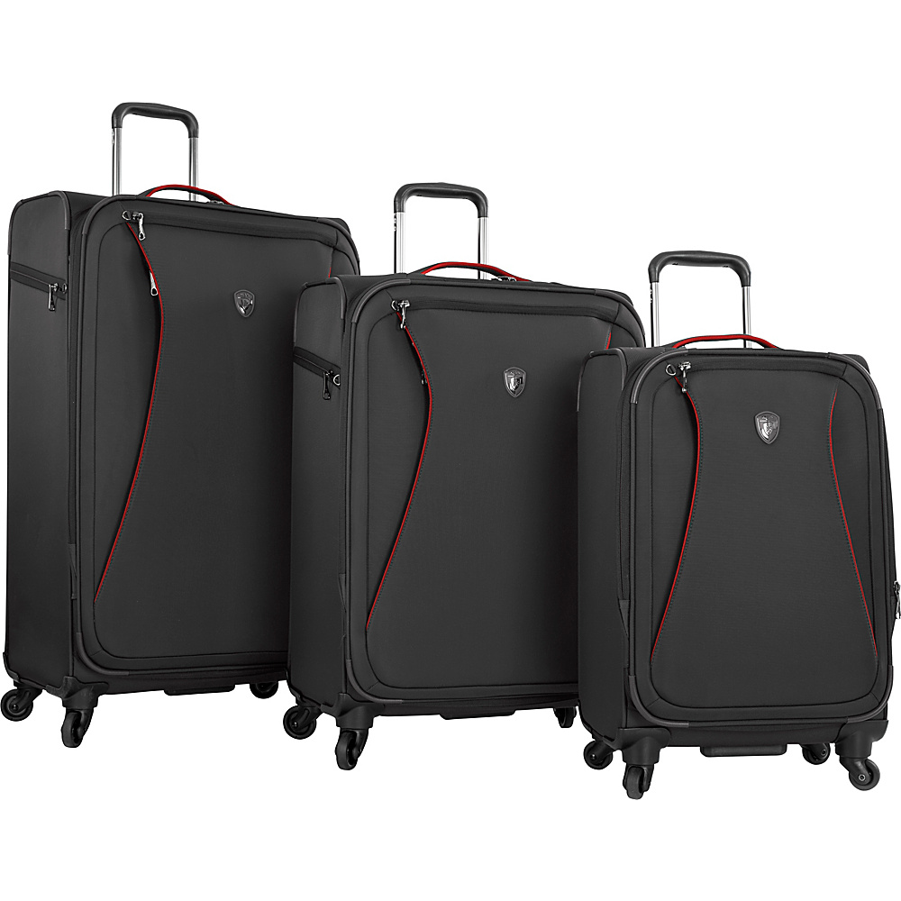 Heys America Helix 3pc Luggage Set Black Heys America Luggage Sets