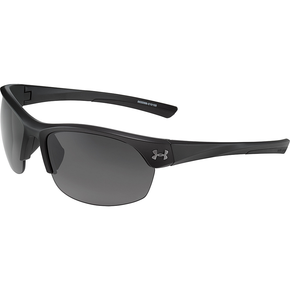 Under Armour Eyewear Marbella Sunglasses Shiny Black Black Frame Gray Lens Under Armour Eyewear Sunglasses