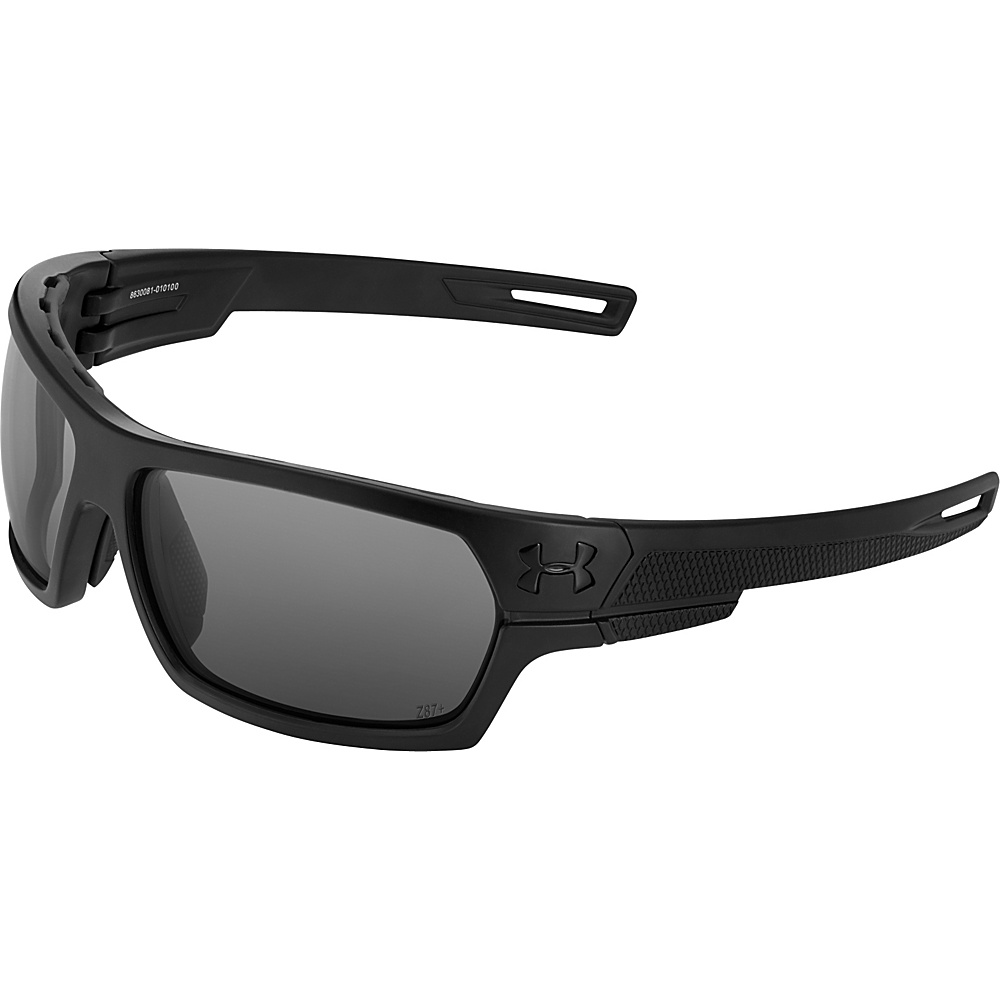 Under Armour Eyewear Battlewrap Sunglasses Satin Black Ballistic Gray Under Armour Eyewear Sunglasses