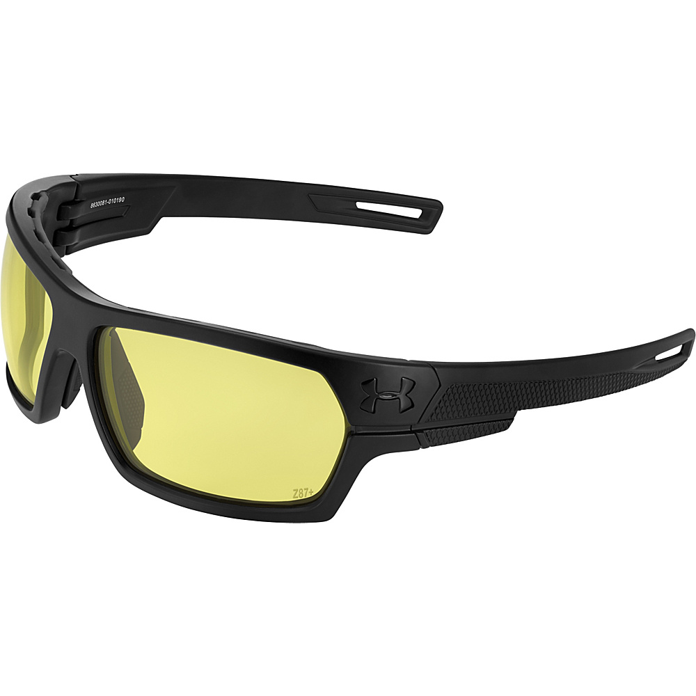 Under Armour Eyewear Battlewrap Sunglasses Satin Black Ballistic Yellow Under Armour Eyewear Sunglasses