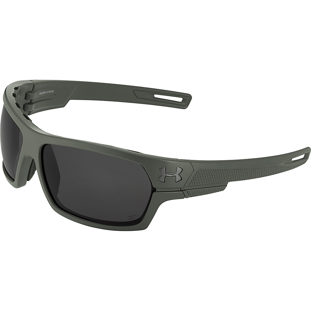 Under Armour Eyewear Battlewrap Sunglasses Satin Rifle Green Ballistic Gray Under Armour Eyewear Sunglasses