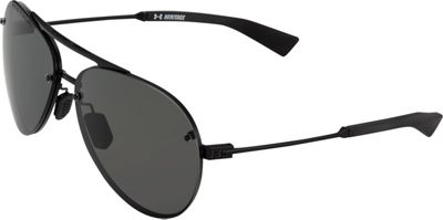 Under Armour Eyewear Double Down Storm Sunglasses Satin Black/Gray Storm Polarized - Under Armour Eyewear Eyewear