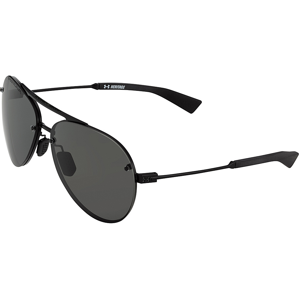 Under Armour Eyewear Double Down Storm Sunglasses Satin Black Gray Storm Polarized Under Armour Eyewear Sunglasses