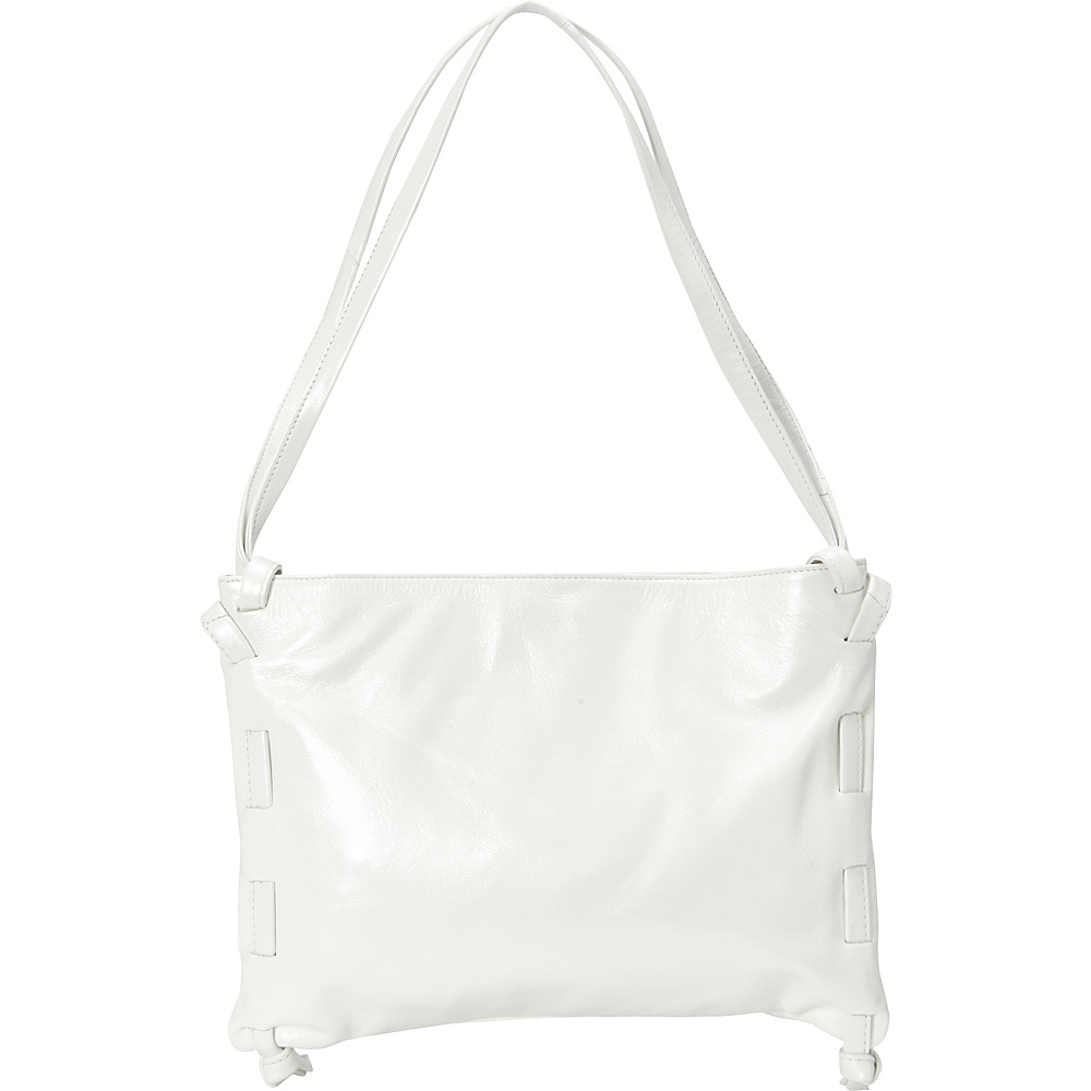 Latico Leathers Darby Shoulder Bag Metallic White - Latico Leathers Leather Handbags - Handbags, Leather Handbags