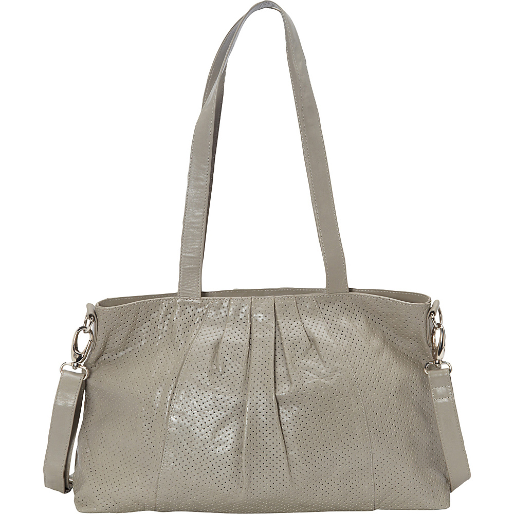 Latico Leathers Regan Shoulder Bag Grey - Latico Leathers Leather Handbags - Handbags, Leather Handbags