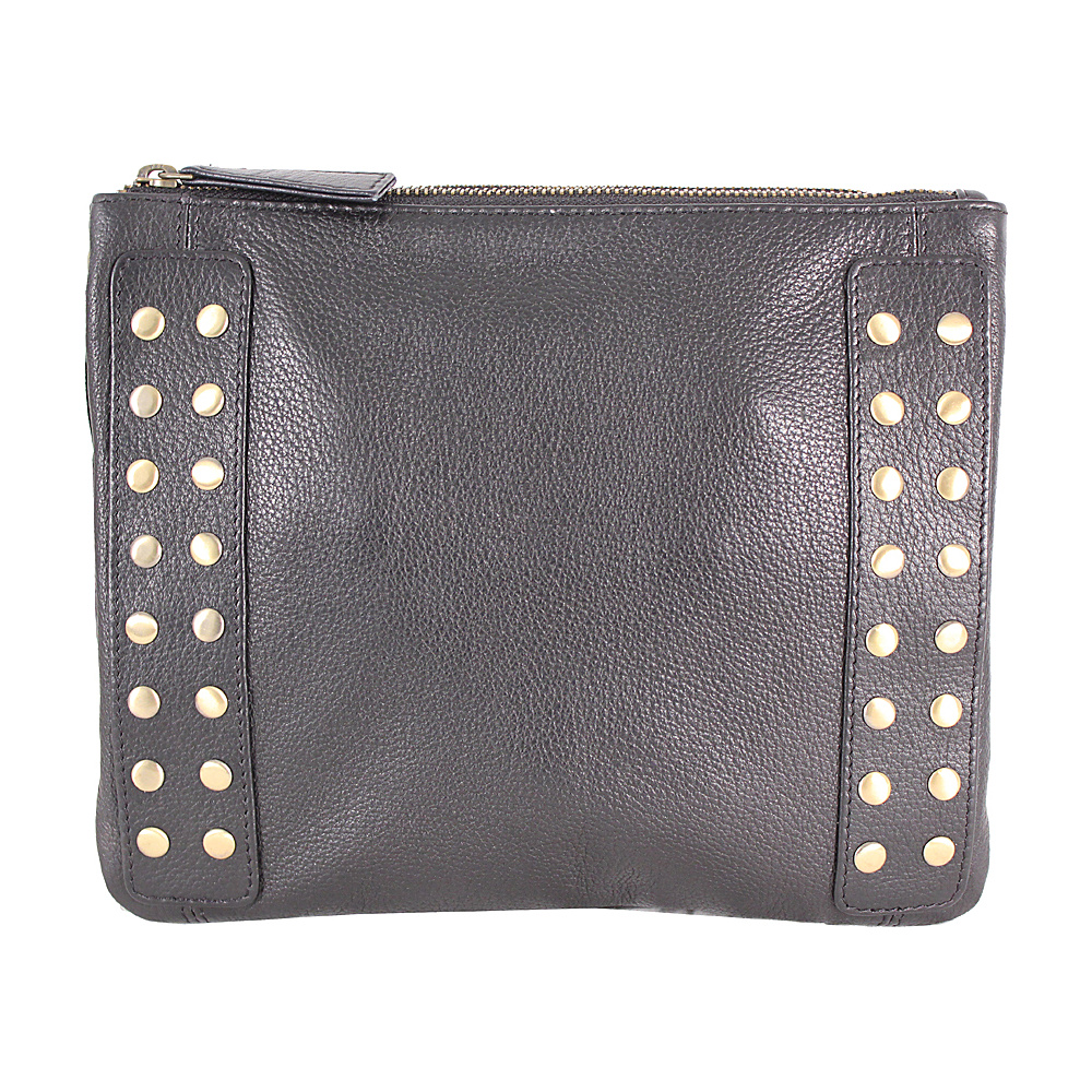 Latico Leathers Bleecker Crossbody Pebble Black - Latico Leathers Leather Handbags - Handbags, Leather Handbags