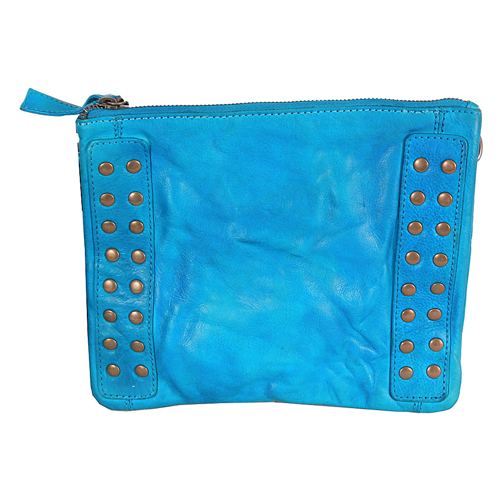 Latico Leathers Bleecker Crossbody Crinkle Blue - Latico Leathers Leather Handbags - Handbags, Leather Handbags