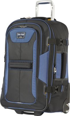 Travelpro T-Pro Bold 2.0 25 inch  Expandable Rollaboard Black & Blue - Travelpro Softside Checked
