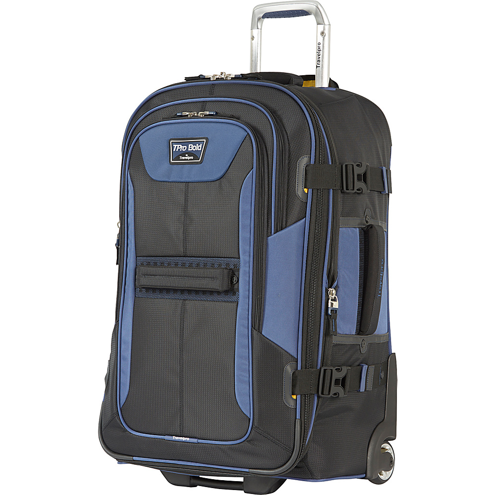 Travelpro T Pro Bold 2.0 25 Expandable Rollaboard Black amp; Blue Travelpro Softside Checked